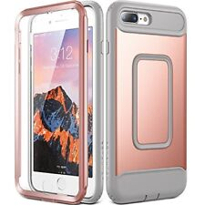 iPhone 8 Plus Case 2017 Heavy Duty Protective Shockproof Cover Rose Gold/Gray