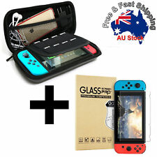 EVA Hard Carrying Case Bag Tempered Glass Screen Protector For Nintendo Switch