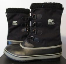 Mens Sorel Size 9-9.5-12 1964 PAC Nylon Winter Waterproof Insulated Boots Black