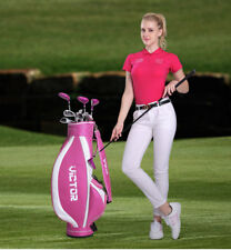 lady Womens 9/13 Piece Golf Club set Pink  Driver Fwy Hyb Irons Putter pink