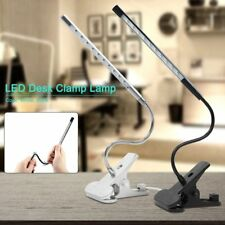 LED Desk Table Lamp USB Eye Care Reading Light Touch Control Flex Clamp