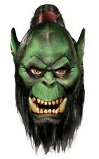 LICENSED WORLD OF WARCRAFT ORC COSTUME MASK WITH BEARD FANCY DRESS HALLOWEEN