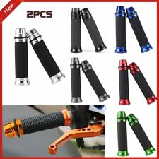 "2XMotorcycle CNC Aluminum Rubber Gel Hand Grips for 7/8"" Handle Bar Bike Bicycle"