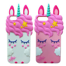 3D Pretty Unicorn Soft Silicone Case Back Cover Skin Shell for Various Phones
