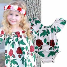 Clothing Cotton Sunsuit Baby Girl Clothes Short Sleeves Jumpsuit Floral Romper