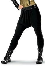 Dance Harem Pants Medium or XL Adult Black Lycra Performance Hip Hop Jazz