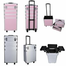 Professional Rolling Cosmetic Makeup Trolley Beauty Case Vanity Organizer Box