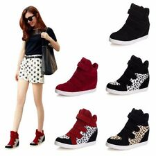 The New Fashion Women Wedge Heels High Top Ankle Boots Sneakers Cozy