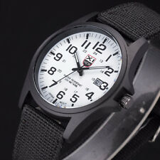 Fashion Mens Date Military Sports Stainless Steel Analog Quartz Army Wrist Watch