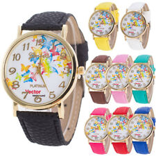 Women's Ladies Butterfly Pattern Dial Leather Watches Quartz Band Wrist Watch