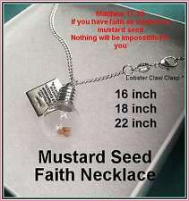 Baptism Mustard Seed Necklace Globe Religious Jewelry Confirmation Girl Lady