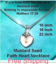Baptism Religious Jewelry Girl Women Mustard Seed Necklace Confirmation Baptism
