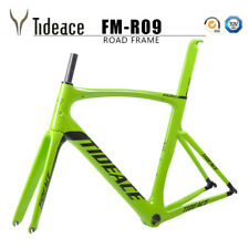 Aero 2018 700C Road Racing Carbon Fiber Bike Frames PF30 Green Tideace OEM Frame