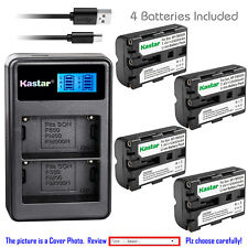 Kastar Battery LCD Dual Charger for Sony NP-FM500H & DSLR-A450 Alpha A450 Camera