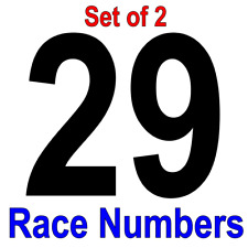 """Race Car Numbers Set Vinyl Decals Size 3"""" tall Set of 2 - Color White"""