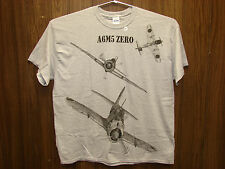 Japanese A6M5 ZERO WW2 Airplane T-shirt w/ HUGE print on front -- Youth & Adult