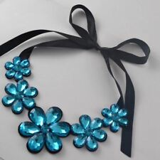 Luxury Ribbon Fashion Short Statement Choker Necklace and Pendant Resin Colour O