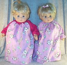 """Doll Clothes Baby Made 2 Fit American Girl 15"""" inch Bitty Twins Nightgown Bears"""