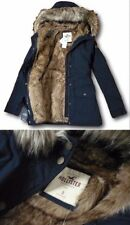 Womens Hollister by Abercrombie&Fitch Water Resistant Hoodie Parka Coat Jacket L