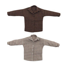 """1/6 Scale Male Plaid Shirt Clothes Clothing Casual Wear 12"""" Action Figure"""