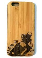 Motocross bamboo wood case for iPhone 6, iPhone 6s, iPhone 6 plus, iPhone 7, iPh