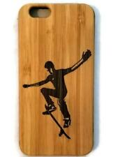 Skateboarder bamboo wood case for iPhone 6, iPhone 6s, iPhone 6 plus, iPhone 7,