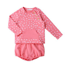2pcs Baby Boys Girls Long Sleeve Start Jumpers and Bloomers Sweatshirt Outfits