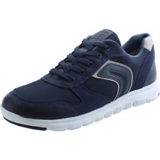 Geox J Xunday H Navy Suede Youth Trainers Shoes