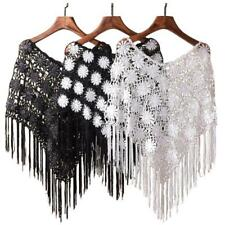 Fancy Cover Up Hollow Out Capelet Crochet Tassel Shawl Poncho Summer Design Gift