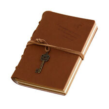 Magic and Key Chain Retro PU Leather Travel Diary Notebook Travel Memo Book S8S1