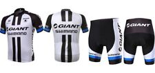 Mens Jersey+pants Quick Dry short Sleeve Giant Cycling Outdoor sport Black white
