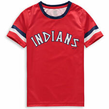 Majestic Cleveland Indians Youth Red Cooperstown Collection Jersey T-Shirt