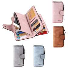 New Women Men PU Leather Coin Purse Wallet Clutch Large Change Soft Bag Gift