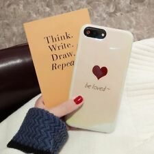 iPhone 6 7 8 X Plus Blu-ray Love Cute Soft Silicon Cover Case Glossy Phone Cases