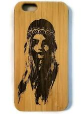 Hippie Girl bamboo wood case for iPhone 6, iPhone 6s, iPhone 6 plus, iPhone 7, i
