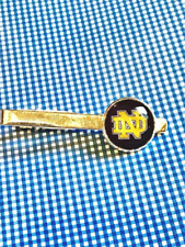 Notre Dame Fighting Irish Leprechaun Glass Cabochon Tie Clip