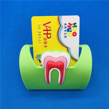 Dental Card Holder Rubber Molar Shape Phone Card Name Storage Stand Dentist Gift