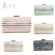 Magic Wallet Women Bags Evening Clutch Bag Shells Acrylic Shoulder Handbag Purse