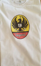 Men's White Brown Short Sleeve Cerveza Imperial Costa Rica Tee T-Shirt L XL 2XL