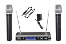 GTD Audio V-28H 2-Channel VHF Wireless Microphone System with 2 Hand held mics