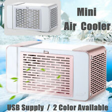 Portable Mini Desktop Air Conditioner Small Fan USB Cooling Cooler Home Office