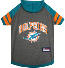 Miami Dolphins NFL Sporty Dog Pet Hoodie T-Shirt Sizes XS-L