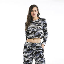 2Pcs Women Lady Tracksuit Hoodies Sweatshirt Pants Sets Sport Wear Casual Suit