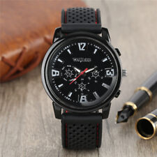 Fashion Men Watch Military Quartz Analog Wrist Watches Rubber Strap Gift