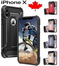 For iPhone X 10 Case - Shockproof Heavy Duty Armor Hybrid Protective Cover