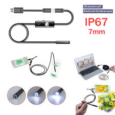 7mm Android PC HD Endoscope Waterproof Snake Borescope USB Inspection Camera ZH