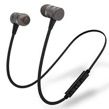 Metal Magnetic Wireless Bluetooth Earphone Sports Headset Bass Headphone Mic