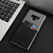 Fr Galaxy Note 9 S8 S9 Plus Slim Leather Wallet Crdiet Card Slot Back Case Cover