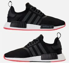 ADIDAS ORIGINALS NMD R1 RUNNER CASUAL MEN's CORE BLACK - CARBON - TRACE SCARLET