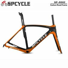 Spcycle 700C Aero Carbon Cycling Road Bike Frames BB386 Orange Color 50/53/55/57